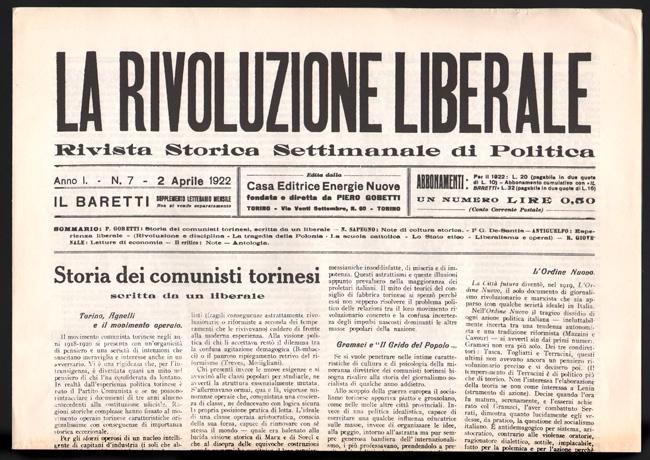 """La battaglia antifascista de """"La rivoluzione liberale"""""""