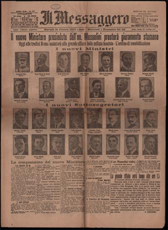 Il governo Mussolini