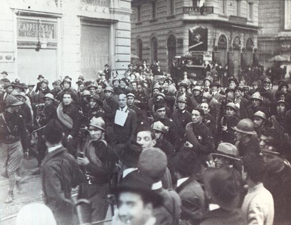 Giuseppe Lemmi, catturato rasato e dileggiato da un gruppo di fascisti