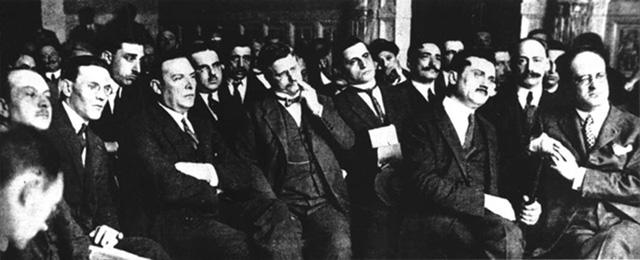 Una riunione di deputati aventiniani