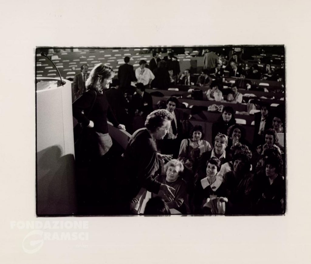 Giglia Tedesco e Livia Turco al XIX Congresso nazionale del Pci