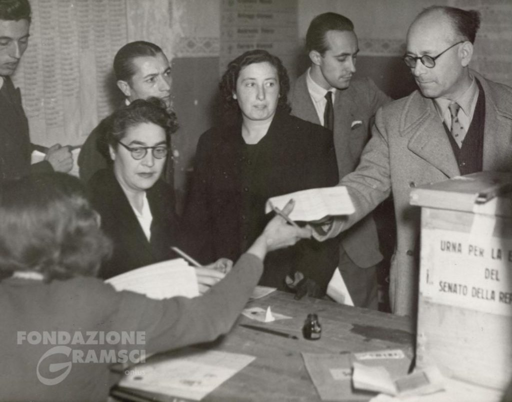 Elezioni 1948. Terracini alle urne