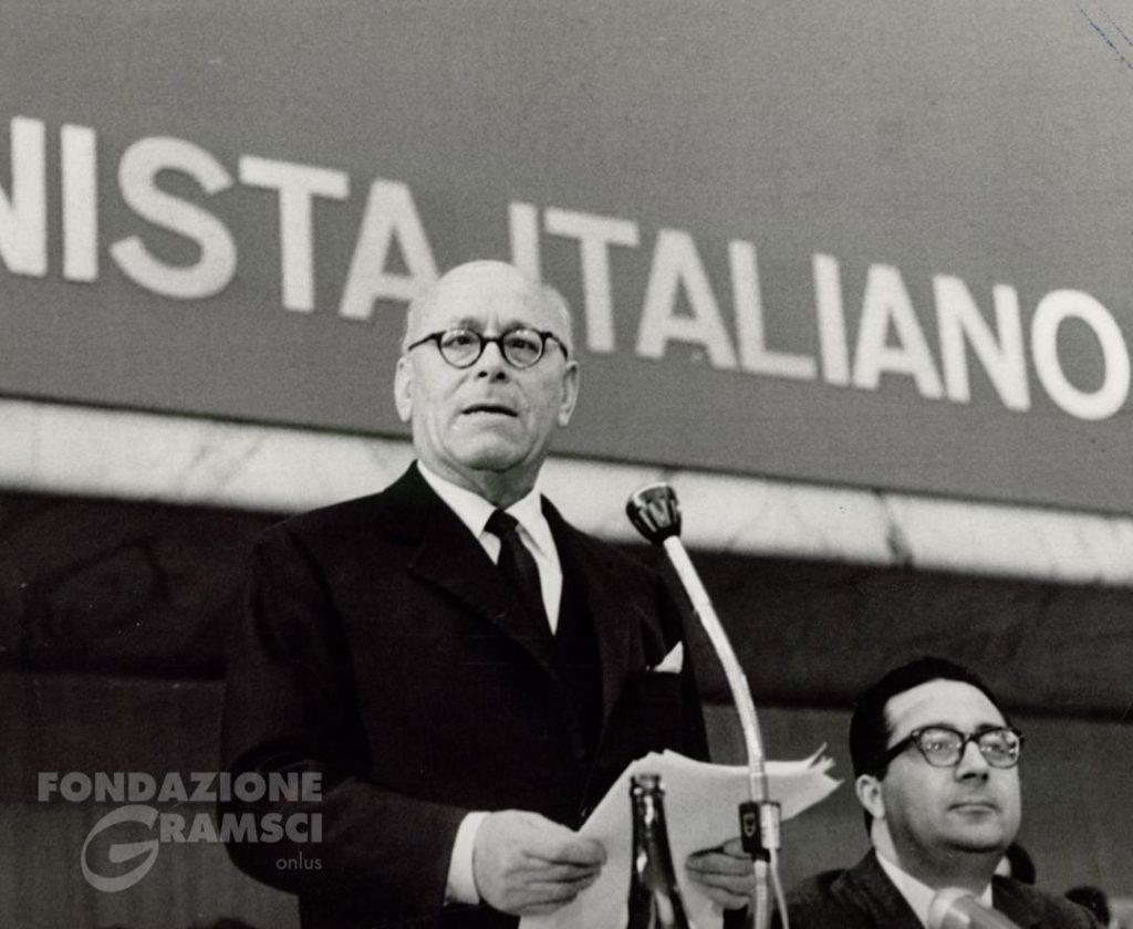 Umberto Terracini interviene all'XI Congresso nazionale del Pci