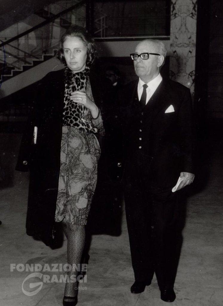 Umberto Terracini assieme alla moglie Maria Laura Gayno