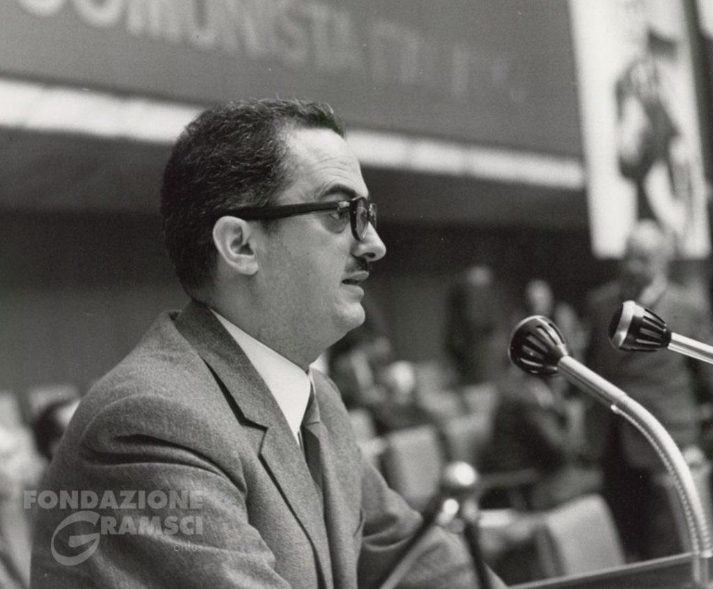 Emanuele Macaluso interviene all'XI Congresso nazionale del Pci