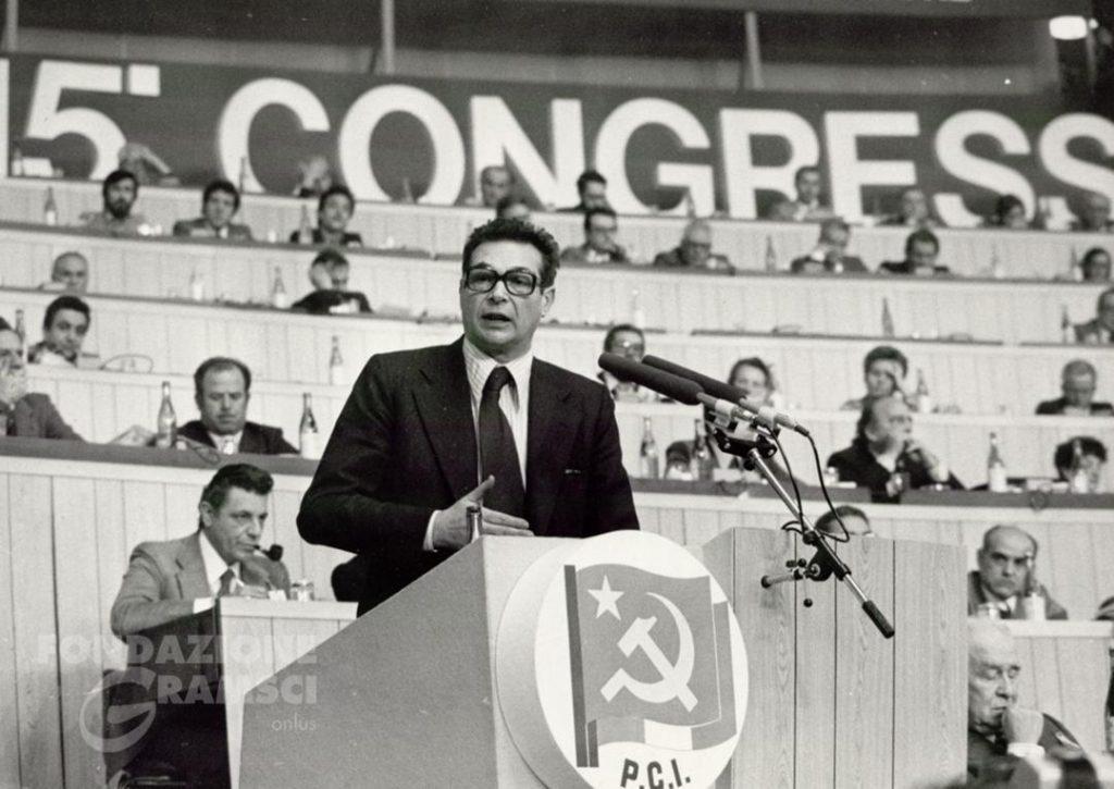 Luciano Lama interviene al XV Congresso nazionale del Pci