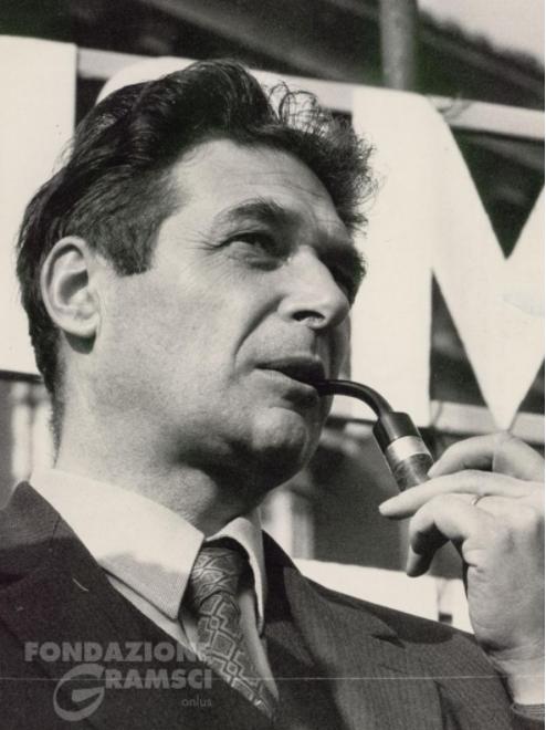 Luciano Lama durante uno sciopero dei lavoratori