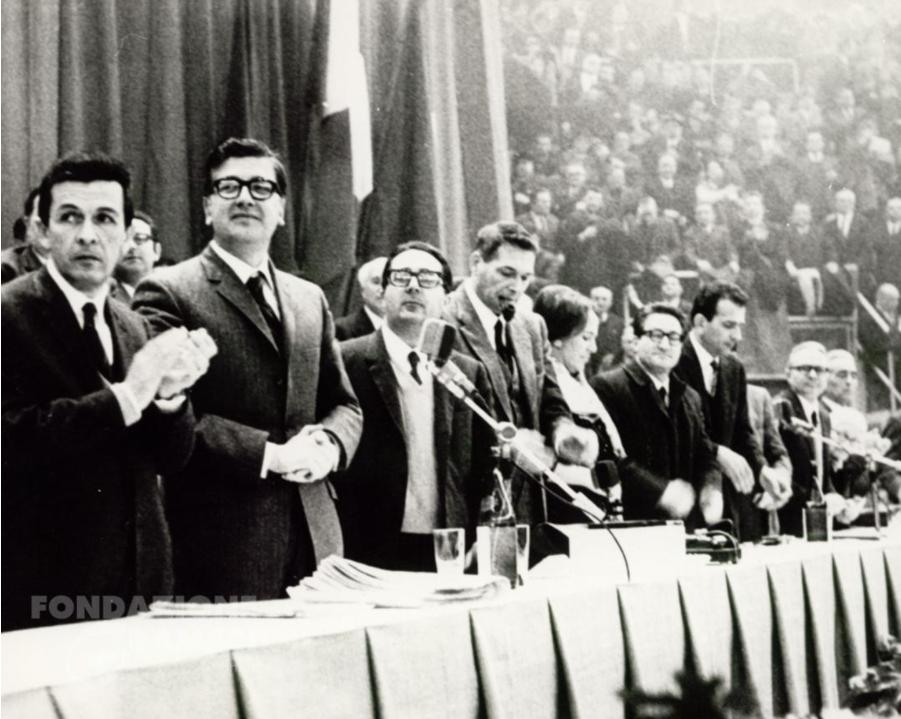 XII Congresso nazionale del Pci. Il tavolo della presidenza